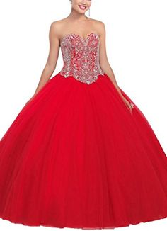 Xicheng Women's Sweetheart Ball Gown Rhinestones Tulle Prom Dresses for Quinceanera LongReturn Policy:If you find something wrongplease contact us as soon as possiblebesides if you would like to re...
