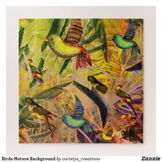 Birds Nature Background Jigsaw Puzzle Custom Gift Boxes, Customized Gifts, Make Your Own Puzzle, High Quality Images, Your Design, Jigsaw Puzzles, Vibrant Colors, Birds, Crystals