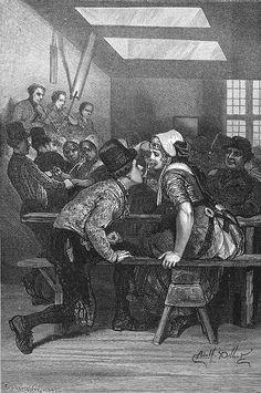 Netherlands, Zeeland, Souburg inn, via Flickr.   het wijnglas Il bicchier di vino. kunstenaar:   Dillens, Adolphe afkomstig uit de Italiaanse versie van Charles de Coster, le tour du monde, Londen 1874 Laplante, C. #Zeeland #Walcheren