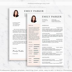 Professional Resume Template Cover Letter Cv Template Us  BackTo