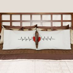 """""""Hearts beat as one"""" pillowcases"""