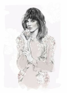 Birdy & Me : Illustrations & Musings by Kelly Smith: valentina ACQUA FLOREALE #fashionillustration