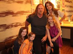 A Family Man: Trace Adkins poses with his family backstage?   Photo Credit: Rick Diamond