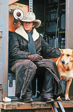 The superstar with his dog Junior, who was part shepherd and part collie. Junior was protective of his owner and was a known biter, but McQueen loved him dearly. Barbara Minty McQueen says Junior perished in the Arizona desert, most likely eaten by a pack of wolves. She said Steve looked for him for days, and that was the only time she witnessed her husband cry.