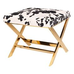 Shop for Chic Home Diddle Metal/ Faux Cow Fur X-leg Ottoman. Get free shipping at Overstock.com - Your Online Furniture Outlet Store! Get 5% in rewards with Club O! - 18748712