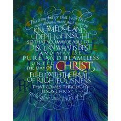Philippians 1:9-11