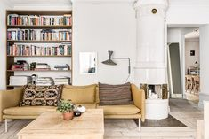 An inviting apartment with warm tones in Södermalm