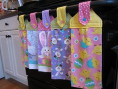 Love, love, love these diy Easter Towels.
