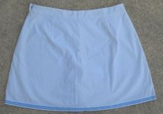 Woman's Lauren Active White Skorts Skirt Shorts Size 10 Ralph Lauren Cotton #RalphLauren #Skorts Now $14.87