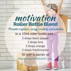 """motivation"" roller bottle blend promotes confidence, energy, creativity, and…"