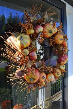 Fall Outdoor Decorations On My Front Porch and Deck Fall Crafts, Decor Crafts, Seasonal Decor, Fall Decorations, Fall Door, Fall Is Here, Autumn Wreaths, Fall Home Decor, Fall Harvest