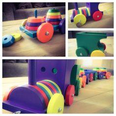 ≥ Super leuke grote houten trein ( 1 meter) - Speelgoed | Houten speelgoed - Marktplaats.nl