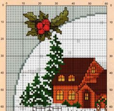 "Lovely heart things: Cross Stitch: ""poinsettias - Christmas flower"" (collection schemes)"