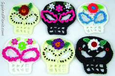 Sugar Skull Crochet Pattern | Sugar Candy Skull Crochet Pattern | Squirrel Picnic