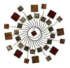 """#Contemporary #abstract #sunburst metal wire #wallsculpture made of #geometric #shapes in brown and grey hue iron tiles. Theme: #Modern #Reflections. 32"""" Diameter #art #wallart #walldecor #wallaccent #designaccent #home #decor #interiordesign #designinterior #homedecor #interiors #designinspiration #decorating #homedecorating #FengShui #Zen #picoftheday"""
