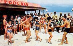 Dancing at the Castaways Hotel, Sunny Isles, Dade County, Florida (1960s)