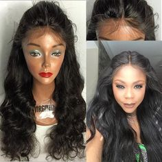 Hot Sloose Wave Glueless Full Lace Wig & Front Lace Wig Brazilian Virgin Hair With Baby Hair For Black Women Virgin Hair Wigs Realistic Wigs From Sheladyhouse, $69.95| Dhgate.Com