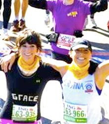 Sisters take part in first-ever marathon for team NY Rotary and raise $5,000 for Rotary's polio eradication efforts and other charities including Gift of Life, the Ronald McDonald House, and Prosthetic Hands.