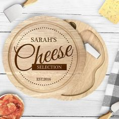 Personalise this wooden cheese board with a name up to 12 characters and a date up to 8 characters please include EST if required Cheese Selection