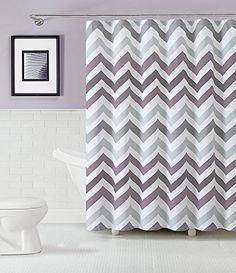 GoodGram Chevron Cotton Fabric Shower Curtain  Assorted Colors Plum >>> Check out this great product.