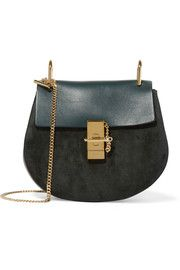 ChloéDrew small leather and suede shoulder bag