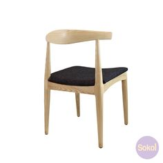 Looking for dining chairs? Check out Sokol's stunning, comfortable and stylish Replica 'Elbow' Fabric Seat Natural Dining Chair.