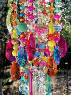 A superior combination dazzling color in this crystal wind chime!! More information on the way for this 4 x 24 crystal wind chime :-)