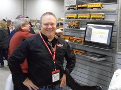"""January 2015 Andy Edleman at """"Big E"""" Amherst Train Show. Image from OGR Forum http://ogrforum.ogaugerr.com/topic/reports- about-the-big-e  image by DMASSO"""