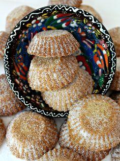 Bosnian Butter Cookies (Šape) are a crunchy, buttery, shortbread with a light lemon flavor. Delicious with coffee, tea, or milk! Bosnian Recipes, Croatian Recipes, Albanian Recipes, Hungarian Recipes, Baking Recipes, Cookie Recipes, Dessert Recipes, Dessert Bread, Cookie Ideas