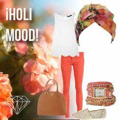 ¡Holi Mood! ¿Qué tal este look inspirado en el festival hinduista que celebra los colores y el amor? #cancer #fashion #turban #turbante