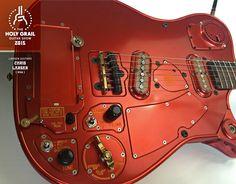 Exhibitor at the Holy Grail Guitar Show 2015: Chris Larsen, Larsen Guitars, USA. http://www.larsenguitarmfg.com, http://holygrailguitarshow.com/exhibitors/larsen-guitars/
