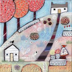 Garden Pinks - Louise Rawlings http://www.louise-rawlings-art.co.uk/