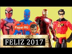 Feliz Ano Novo 2017 Happy New Year Homem Aranha  Homem de Ferro Robin  P...