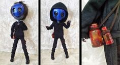Eyeless Jack created by HavenRelis on deviantart this is freaking awsome! Eyeless Jack, Jeff The Killer, Jack Creepypasta, Memes Arte, Laughing Jack, Spooky Scary, Doll Repaint, Kawaii, Custom Dolls