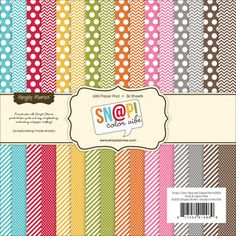 "Sn@p! Color Vibe Collection Paper Pad 6""X6"" 36 Sheets- 