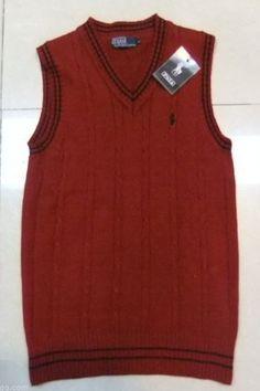 New Arrivals Ralph Lauren Men Vest Sweater In Red