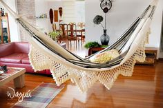 Tuchin hammock,  lovely 100% cotton, boho, natural, macrame, traditional, double hammock, hand woven, outdoors, luxury