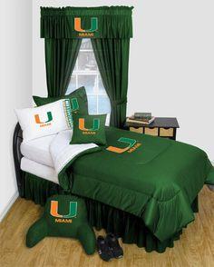 Miami Hurricanes Locker Room Bedding