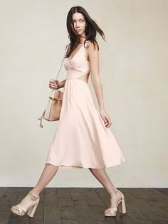 Walking into rooms backwards is fine by us. The Demi Dress will have you wanting to show off all sides of yourself. https://www.thereformation.com/products/demi-dress-soft-pink?utm_source=pinterest&utm_medium=organic&utm_campaign=PinterestOwnedPins