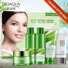 BIOAQUA Aloe Vera Beauty Care Skin Whitening Repairing, Moisturizing , Cleansing Pores Anti Acne Skin Care Set #Affiliate