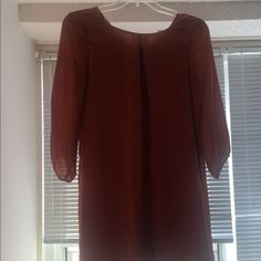Two dresses for $25.00 Blue and a deep orange H&M knee length dresses. Never worn, still had tags attached to them. H&M Dresses Long Sleeve