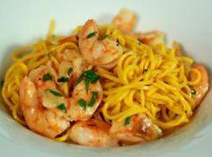 Krevety s česnekem a domácí pastou Ted, Spaghetti, Fresh, Ethnic Recipes, Noodle