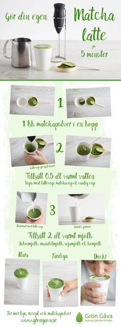 Matcha Latte inom 5 min i 3 enkla steg!