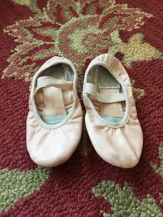 Girls Theatricals Ballet Slippers Leather Sole 12M Pink Dance Shoes Gymnastics | eBay