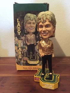 Bobblehead of Coach Kim Mulkey of the Baylor Lady Bears basketball team