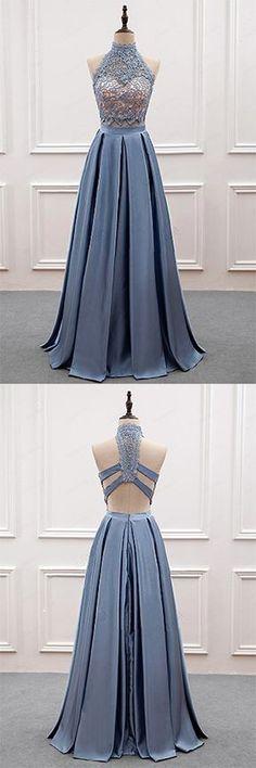 O-Neck A-Line Prom Dresses,Long Prom Dresses,Cheap Prom Dresses,