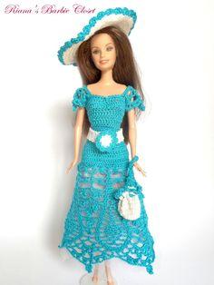 Robe de poupée Barbie turquoise  équiper de par RianasDollCloset