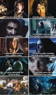 LOTR and The Hobbit parallels
