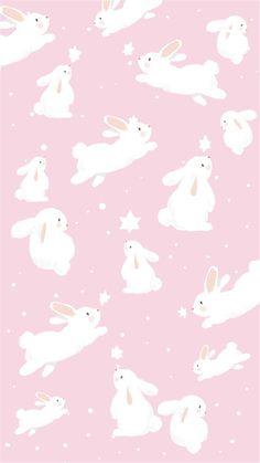 Pink Easter Bunny Wallpaper Wallpaper Easter Bunny Pink by Gocase, easter, easte. Vintage Wallpaper, Pastel Wallpaper, Kawaii Wallpaper, Animal Wallpaper, Pink Rabbit Wallpaper, Pink Easter Wallpaper, Chicken Wallpaper, Easter Backgrounds, Cute Wallpaper Backgrounds