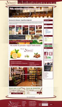 Sito web di eCommerce per Nisinatura distribuzione Messina - HomePage - Realizzato con Opencart 1.4 - Anno 2012